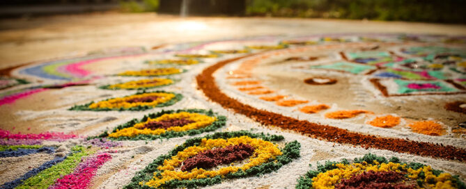 festival rangoli colors